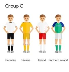 Football team players group c - germany ukraine vector
