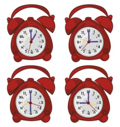isolated clocks vector image