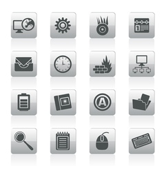 mobile phone and internet icons vector image vector image