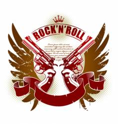 rock n roll vector image vector image