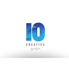 10 ten blue gradient number numeral digit logo vector