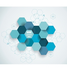 Abstract technology communication design with vector image
