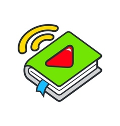 Audio book sign vector image