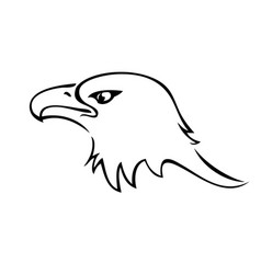 Bald eagle mascot silhouette icon vector