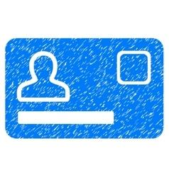 Banking card grainy texture icon vector