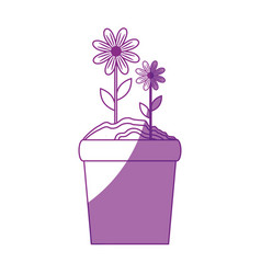beautiful flowers icon vector image