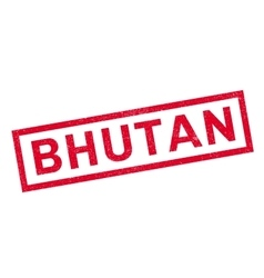 Bhutan rubber stamp vector image