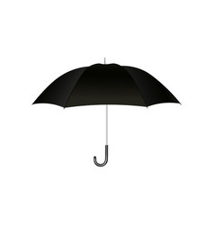 black open umbrella with handle for protection vector image