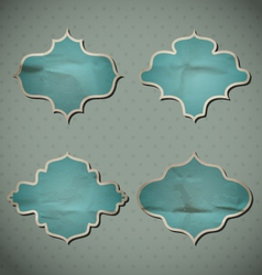 Blue Crumpled Frames vector image