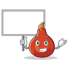 Bring board red kuri squash character cartoon vector