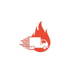 burn delivery logo icon design vector image