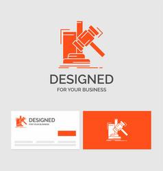 Business logo template for auction gavel hammer vector