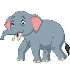 cartoon happy elephant vector image