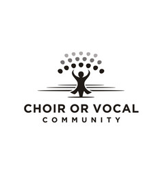 Choir chorus vocal group conductor gospel logo vector