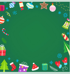 Christmas banner with different holiday vector