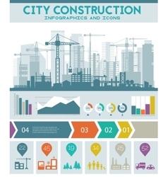 City skyline construction vector