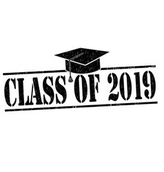 Class of 2018 stamp vector