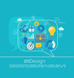 consulting concepts design vector image