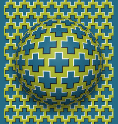 Crosses patterned ball rolling along the same vector