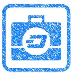 dash business case framed stamp vector image