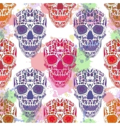 Day Of The Dead Skull Seamless on vector