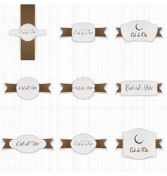 Eid al-fitr festive banner templates set vector