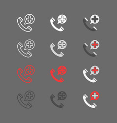 emergency call filled outline icon medicine and vector image