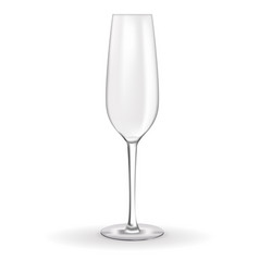 Empty glass of champagne vector
