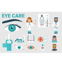 Eye care concept vector image