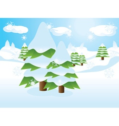 Fir trees on slope vector image