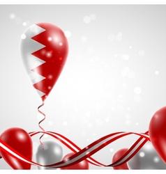 Flag of Bahrain on balloon vector