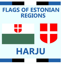 Flag of estonian region harju vector