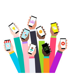 flat design concept for mobile apps vector image