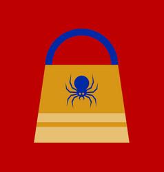 Flat icon on background halloween bag vector