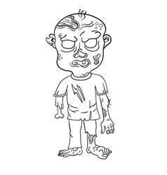 funny zombie page for coloring book vector image