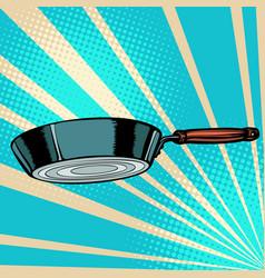 griddle frying pan skillet saucepan kitchen vector image