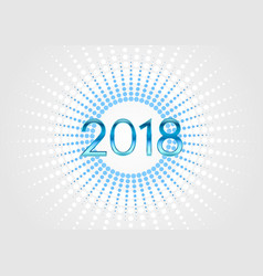 happy 2018 new year abstract background vector image