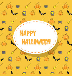happy halloween icon pattern background vector image