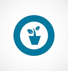 Houseplant bold blue border circle icon vector