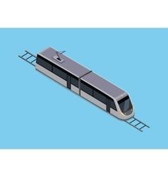 isometric a subway train vector image