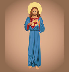 Jesus christ sacred heart hope vector