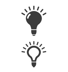 light bulb icon on white background vector image