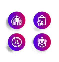 Loyalty points group and user info icons set vector