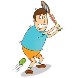 Man playing tennis vector image