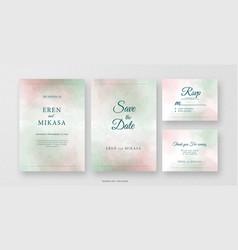 Minimalist wedding invitation card vector