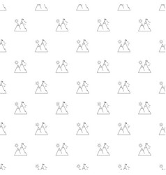 Mountain peak background from line icon vector