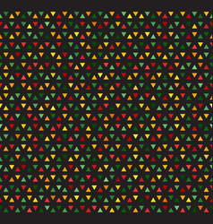 Multicolored triangles mosaic pattern vector