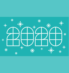 new year postcard 2020 vector image