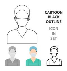 nurse icon cartoon single medicine icon from the vector image