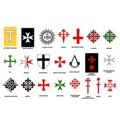 Orders chivalry heraldry medieval knights vector